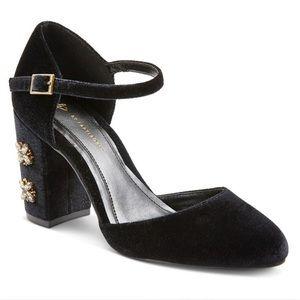 Anthropologie Shoes - NBW FarylRobin Beaded Velvet Heels